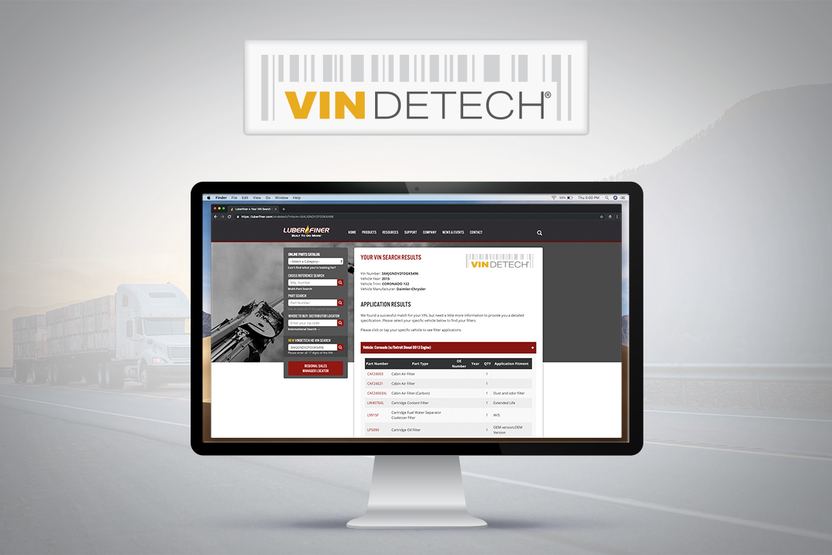 Image Vindetech® is industry's first online search tool using VIN